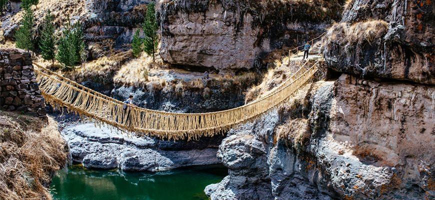 Q'eswachaka Inca Bridge: The 500-year-old tradition is still alive.