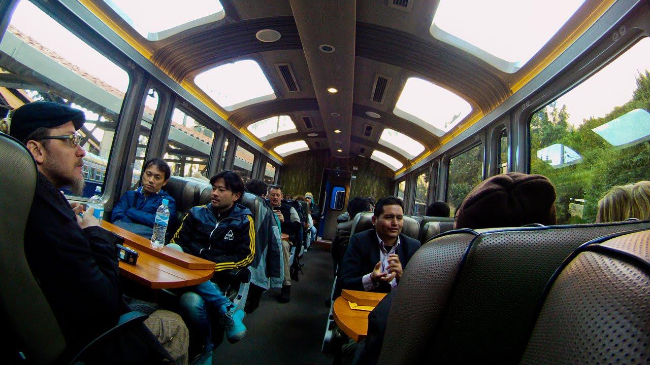 Tren Vistadome de Cusco a aguas calientes para subir a Machu