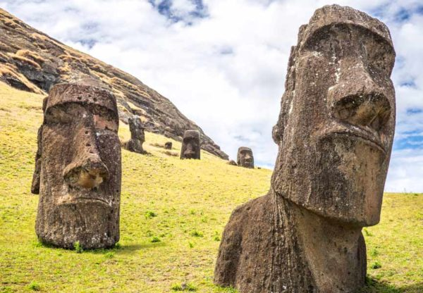 Easter Island, the most isolated inhabited island on the planet