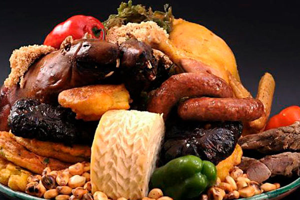 """""""Chiriuchu or Cold food"""", Famous dish of the region of Cusco"""