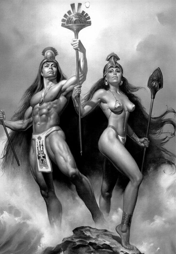 Manco Capac y Mama Ocllo, fundadores del imperio inca