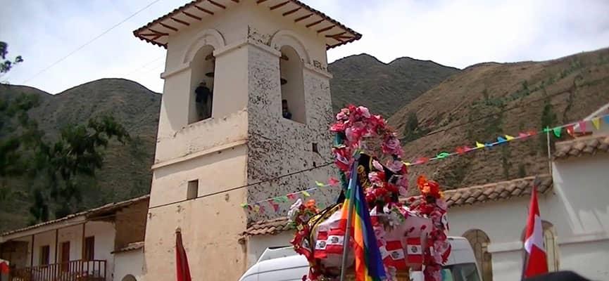 Procesión de Santa Rosa de Lima en Sanka, Acomayo-Cusco