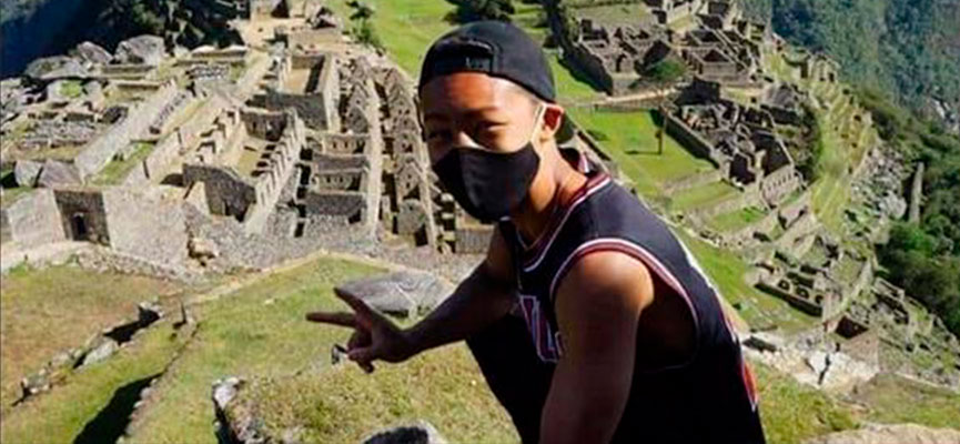 Jesse Katayama, primer turista en ingresar a Machupicchu
